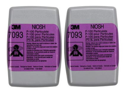 3M 7093CN P100颗粒物滤尘盒