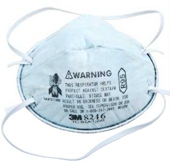 3M 8246 R95 酸性气体异味及颗粒物头戴式工业防尘口罩