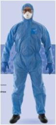 微护佳 Microgard MG1500浅蓝色增强型有帽连体防护服(常备)