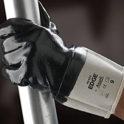 安思尔 Ansell 经济款掌背全涂丁腈橡胶手套,加长款安全袖口,全长27.5-29cm 48-500-8