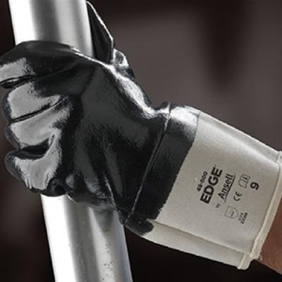 安思尔 Ansell 经济款掌背全涂丁腈橡胶手套,加长款安全袖口,全长27.5-29cm 48-500-9
