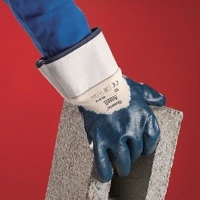 安思尔 Ansell 经济款丁腈涂层耐油耐磨手套,安全袖口