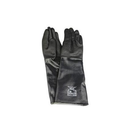 安思尔 Ansell 黑色隔热氯丁橡胶宽口长手套19-024-10