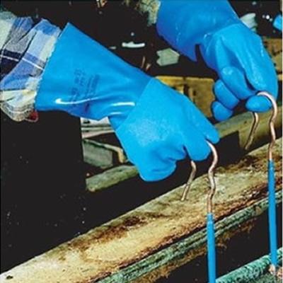 安思尔 Ansell 高级蓝色PVC手套,内织棉衬4-644-9