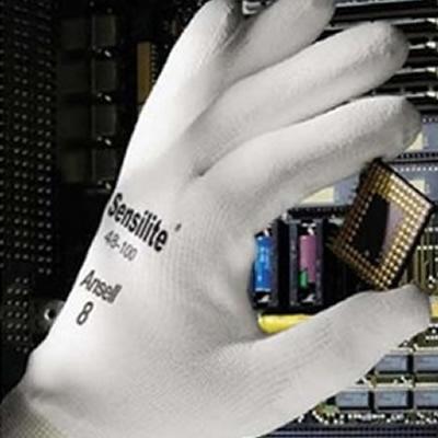 安思尔 Ansell 防静电尼龙纤维,聚氨酯手指涂层,灰白色