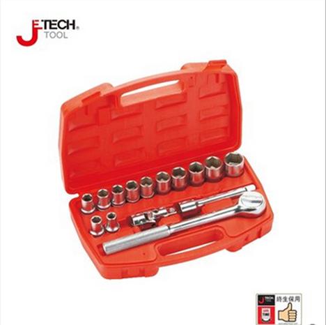 捷科 Jech 20件套1/2系列公制组套工具