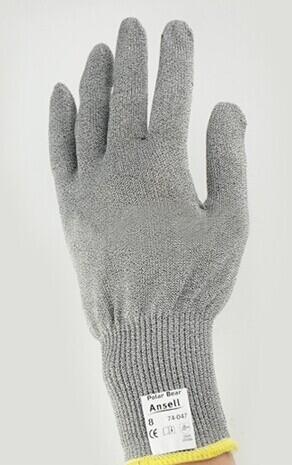 安思尔 Ansell 4级Dyneema针织防割,无分左右手型设计,灰色手套74-047-7