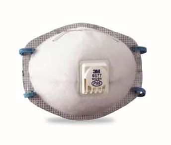 3M 8577 P95 带呼吸阀防颗粒物活性炭防尘口罩