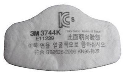 3M 3744 KN95有机蒸气异味及颗粒物滤棉