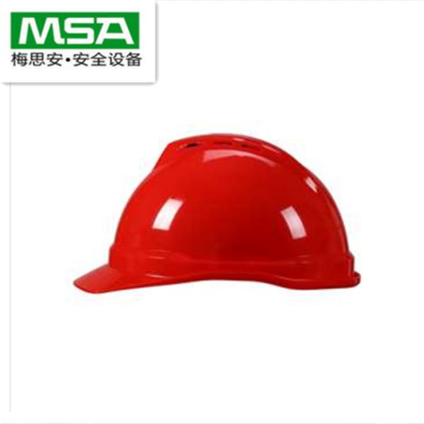 梅思安 Msa V-Gard500 ABS带通风孔安全帽 白色 轻旋风针织布 D